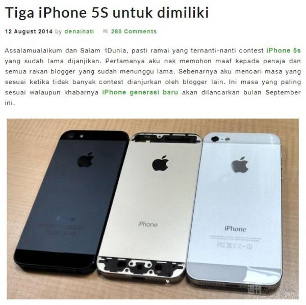 contest iphone 5s denaihati
