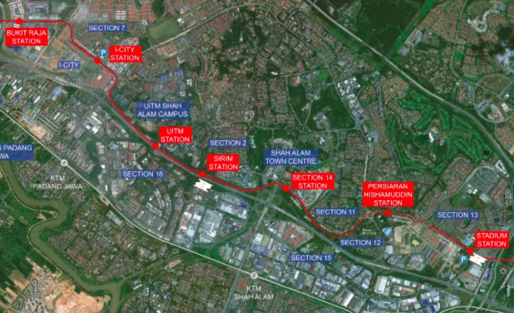shah alam LRT BRT